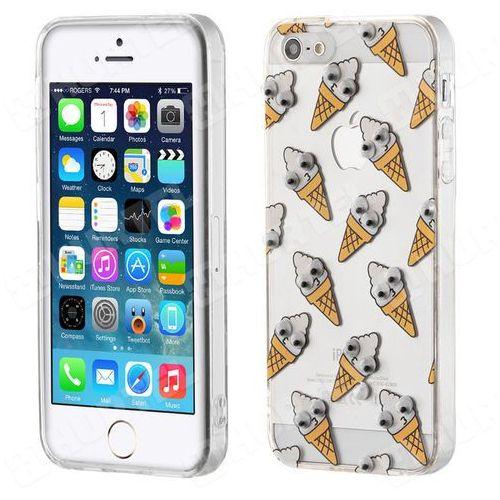 Żelowy pokrowiec etui oczy Googly Eyes iPhone SE 5S 5 lody przezroczysty - lody, kup u jednego z partnerów
