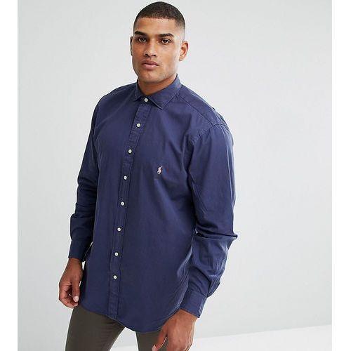 Polo Ralph Lauren Big & Tall Logo Shirt Sport Cotton in Beach Navy - Navy, bawełna