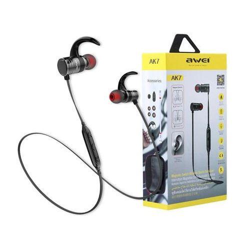 Awei AK7 sportowe słuchawki douszne Bluetooth black - Czarny