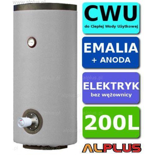Elektryczny bojler 200l z 1 grzałką 3kw lub inną do wyboru, emaliowany, ogrzewacz wody elektryczny pionowy stojący, 200 litrów, 125cm x 60cm, wysyłka gratis marki Lemet