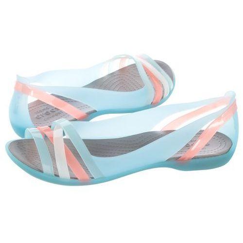 Sandały isabella huarache 2 flat w ice blue/platinum 204912-4cw (cr143-e), Crocs