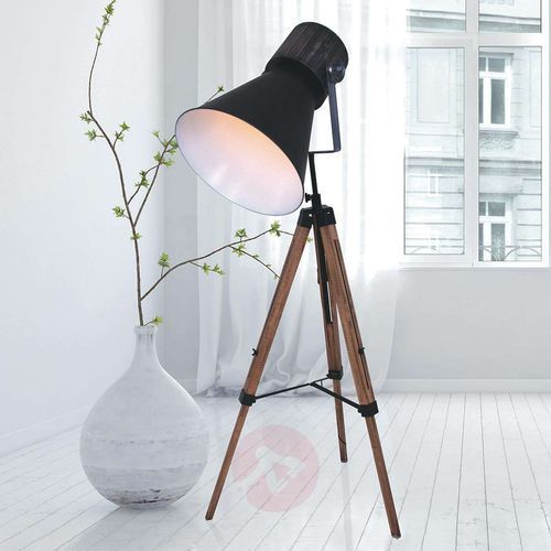 Steinhauer hoody lampa stojąca czarny, 1-punktowy - nowoczesny - obszar wewnętrzny - hoody - czas dostawy: od 6-10 dni roboczych