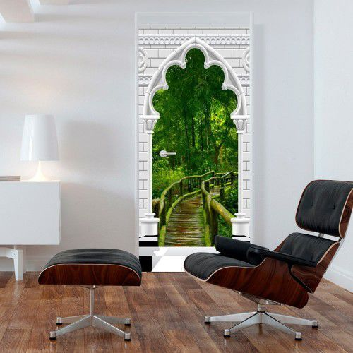 Fototapeta na drzwi - Tapeta na drzwi - Łuk gotycki i dżungla, A0-TNTTUR_70_0351 (7808451)