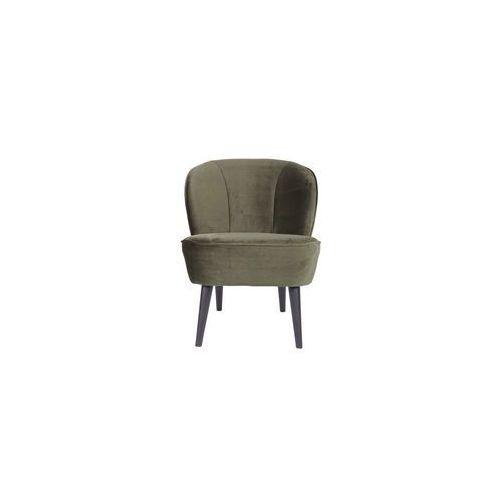 fotel sara z aksamitu ciepły zielony - woood 375690-156 marki Woood