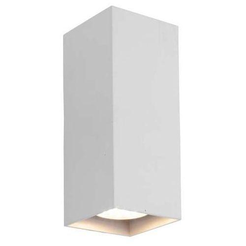 Kinkiet lampa ścienna pesaro lp-2115/2w metalowa oprawa prostokątna biała marki Light prestige