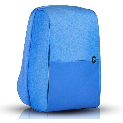 """metrobag plecak na laptopa 17"""" / antykradzieżowy / niebieski - azure blue marki Bg berlin"""