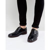 enrico leather derby shoes in black - black marki H by hudson