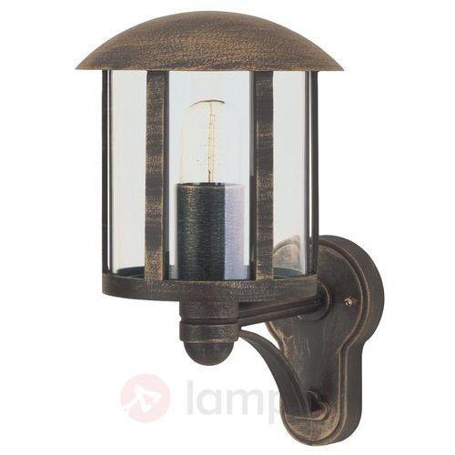 Zewnętrzna lampa ścienna Genefe brązowa (4007235518344)