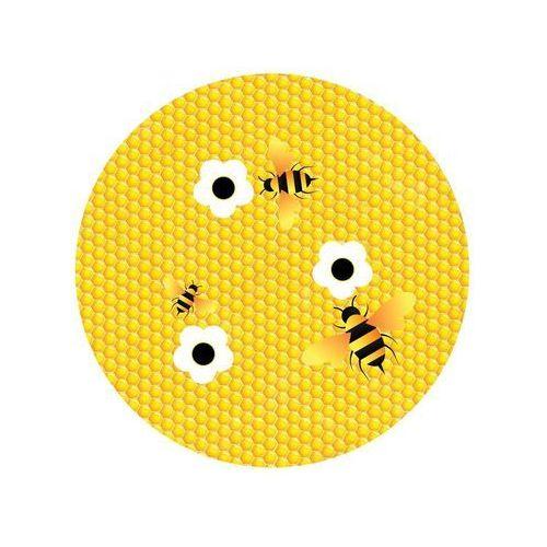 Dekoracyjny opłatek tortowy Pszczółka Plaster miodu - 20 cm