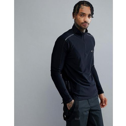 Oakley Training 1/4 Zip Baselayer Sweatshirt Slim Fit Reflective Details in Black - Black, w 3 rozmiarach