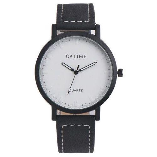 Zegarek duża tarcza czarny - black marki Oktime