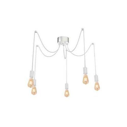 spindel 4112 lampa wisząca zwis 5x60w e27 biały marki Luminex