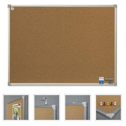 Tablica korkowa 2x3 40x60 aluminium TCA64