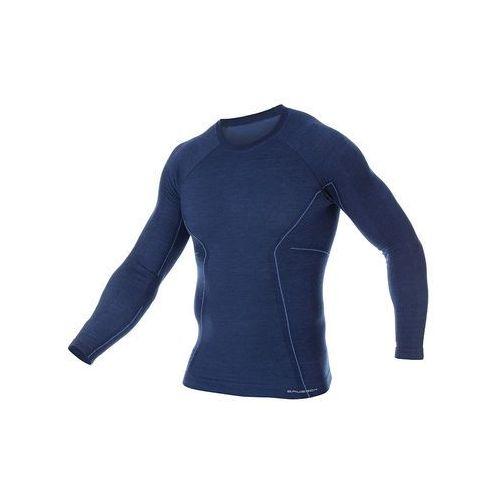 Brubeck Męska koszulka termoaktywna active wool ls12820 navy