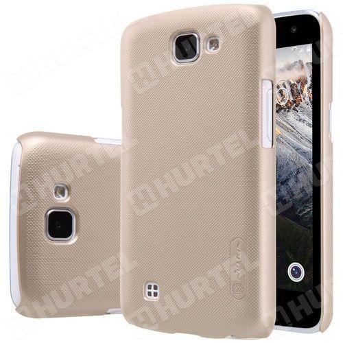 NILLKIN etui Super Frosted Shield LG K4 złote + folia ochronna - Złoty z kategorii Futerały i pokrowce do telefonów