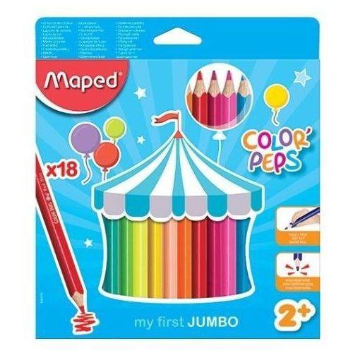 Maped Kredki colorpeps jumbo trójkątne 18 kolorów