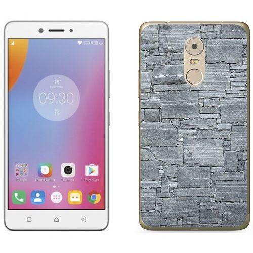 Lenovo k6 note - etui na telefon - kolekcja kamień - jasno szary kamień - d21 marki Zolti