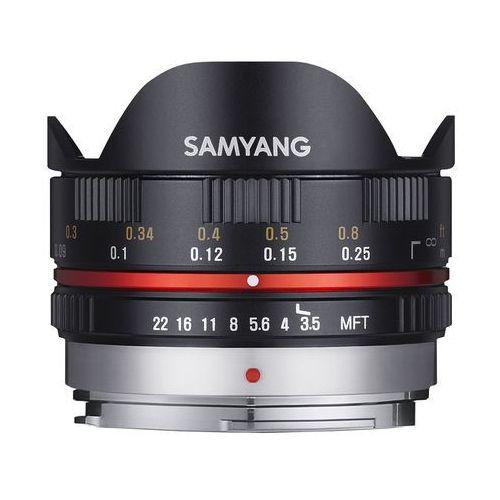 Samyang 7.5 mm f/3.5 umc fish-eye micro 4/3 (czarny)