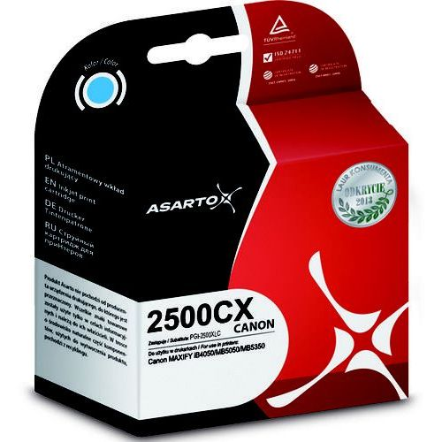 Tusz Asarto do Canon PGI-2500XLC | MAXIFY iB450/MB5050/MB5350 | 1755str | cyan (5901741406975)