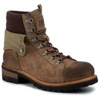 Trapery - suede turn collar boot em0em00351 tiger's eye gez marki Tommy jeans