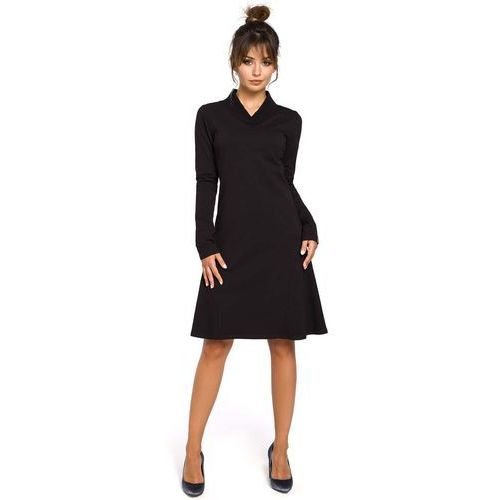 Moe Czarna sukienka z długim rękawem