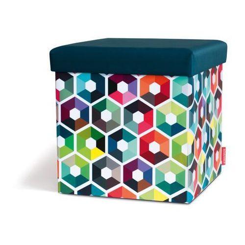 Pufa kostka, designerskie siedzisko w niebanalnej kolorystyce do pokoju dziecięcego lub młodzieżowego marki Remember