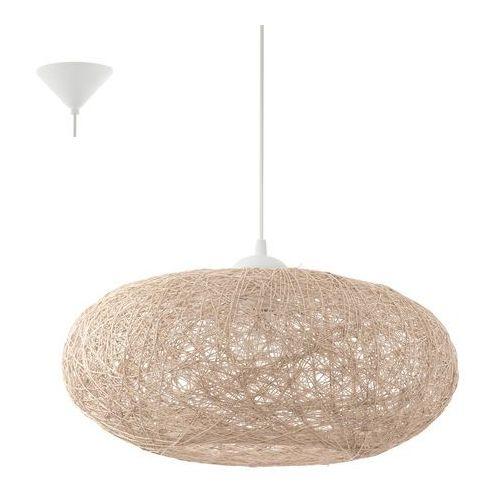 Eglo 93374 - Lampa wisząca CAMPILO 1xE27/60W/230V, kolor Biały