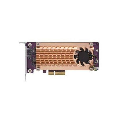 Karta rozszerzeń do serwera NAS QNAP QM2-2P-244A PCI-E x4 Gen 2 2x M.2 NVME 22110/2280 LP (4713213512913)