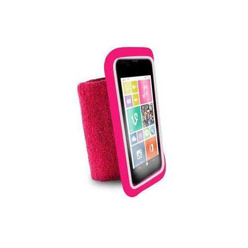 """running band - uniwersalna frotka do biegania do smartfonów max 4.3"""" + key pocket (różowy) marki Puro"""