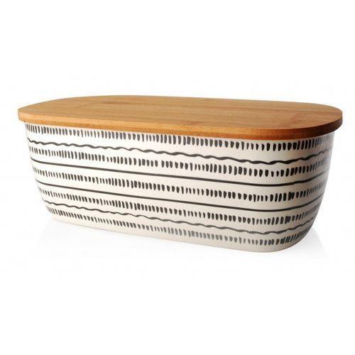 OKAZJA - Chlebak z bambusową pokrywą, wzór