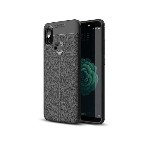Etui pancerne Alogy leather Xiaomi Mi 6X Mi A2 czarne + Szkło, kolor czarny
