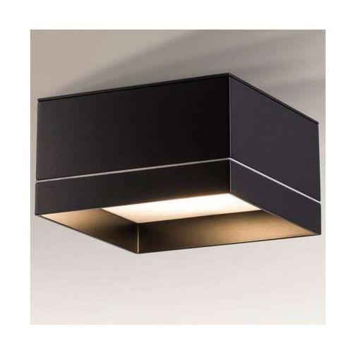 Plafon lampa sufitowa tosa 8010/gx53/cz kwadratowa oprawa minimalistyczna ip44 czarna marki Shilo