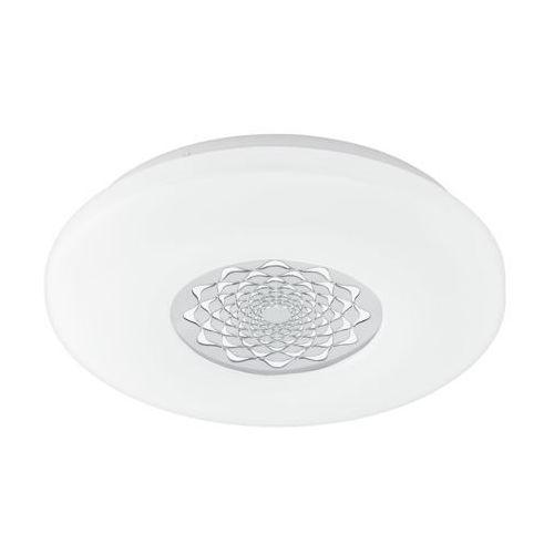Eglo Plafon capasso-c 96821 lampa oprawa sufitowa 1x17w rgb led biały/chrom