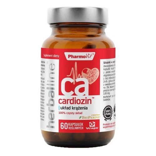 Cardiozin z dodatkiem BioPerine 60 kapsułek Vcaps PharmoVit Herballine (5902811236782)
