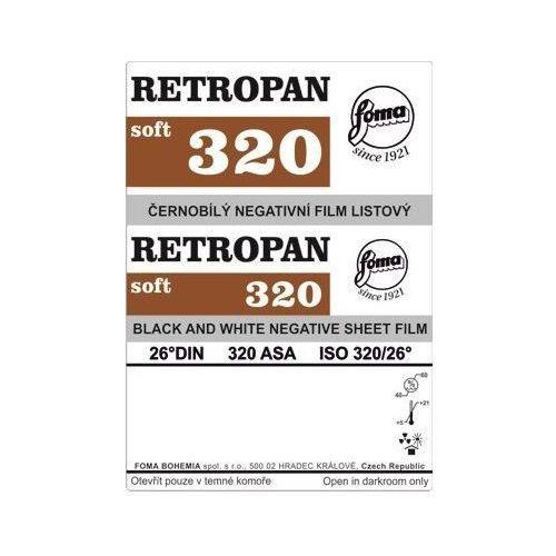 Foma film Retropan 320 w arkuszach 4x5 cm/50