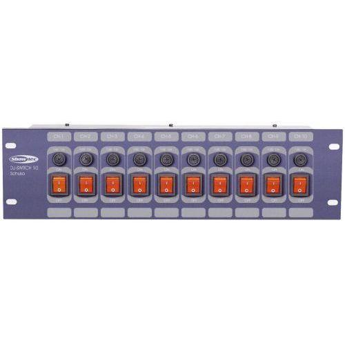 Showtec dj switch 10f panel