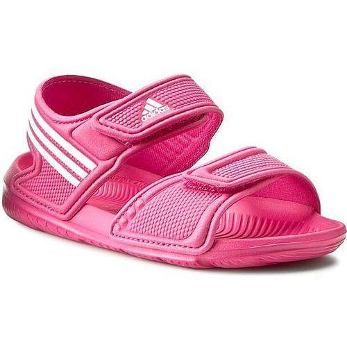 Adidas Sandały dziecięce  akwah 9 k (af3871) - różowy