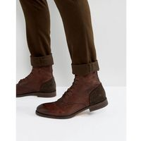 yoakley leather lace up boots - brown marki H by hudson