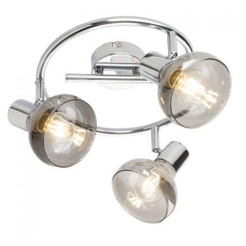 Globo Spirala lothar 54921-3 lampa sufitowa spot 3x40w e14 chrom (9007371379279)