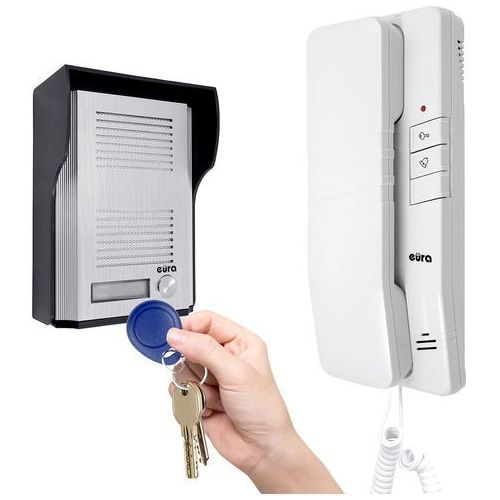 Domofon na kartę - zestaw domofonowy + karty magnetyczne adp-41a3 (rl-3203id) marki Eura-tech