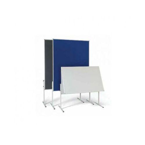 Tablica informacyjno - prezentacyjna, tekstylna, szara, składany