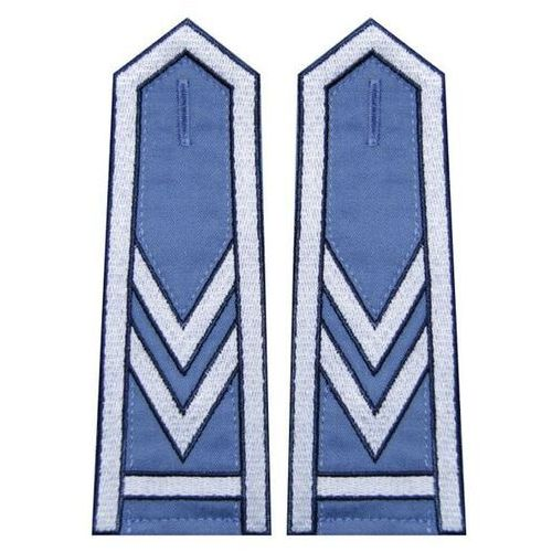 Pagony niebieskie do koszuli Służby Więziennej - starszy sierżant sztabowy (haft)