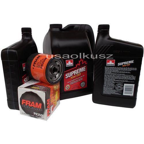 Olej 5w30 oraz filtr oleju silnika cadillac cts 5,7 2004-2005 marki Petro-canada