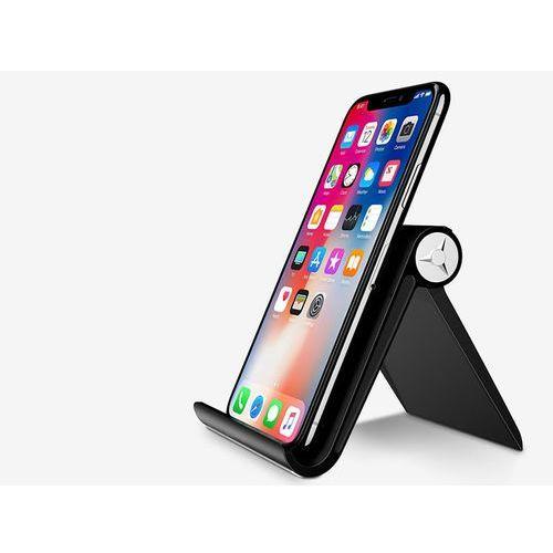 4kom.pl Uniwersalny stojak podstawka uchwyt pod telefon tablet czarny - czarny (6930149427366)