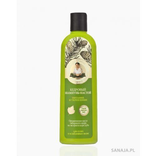 Szampon cedrowy napar do włosów suchych i zniszczonych, 280 ml, marki Babuszka agafia na 5 sokach