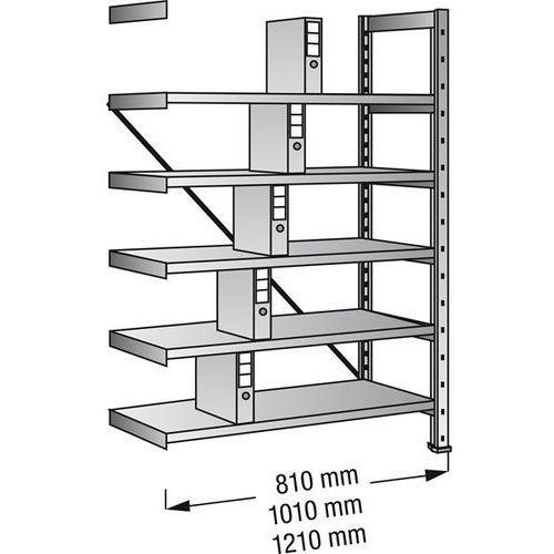 Regał wtykowy na segregatory i archiwum, ocynkowany, wys. 1920 mm, jednostronne,