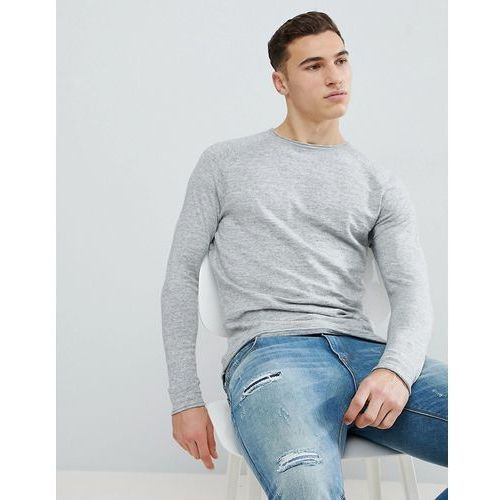 lightweight knitted jumper in light grey - grey, Bershka