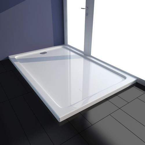 vidaXL Brodzik prysznicowy prostokątny ABS biały 80 x 120 cm (8718475904892)