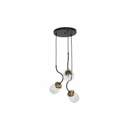 Lampa wisząca zwis żyrandol Luminex Natan 2x60W E27 czarny/mosiądz 7799 (5907565977998)