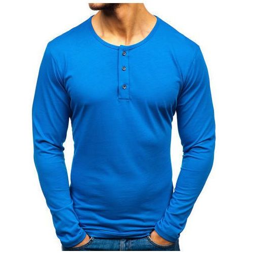 Longsleeve męski niebieski Bolf 1114, kolor niebieski